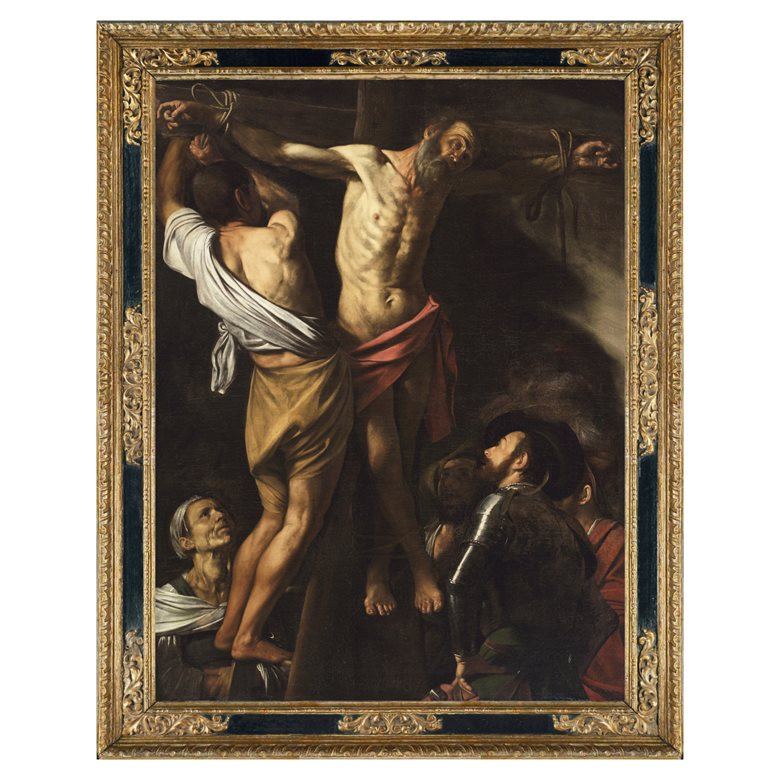 Reproduction Baroque cassetta frame for Caravaggio's The Crucifixion of Saint Andrew, 1606-1607