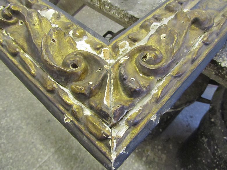 Restoration & alteration to a 17th century frame
