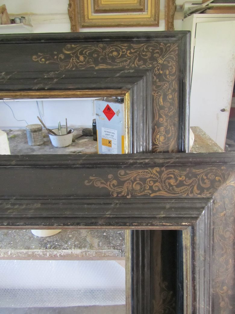 Reproduction 17th century Italian cassetta frame for Johannes Van Bronchorst – Private Collection.